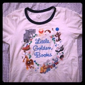 Tops - Little golden book ringer t-shirt
